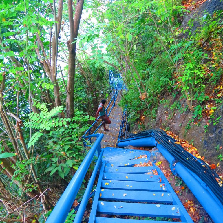 Peguyangan waterfalls, Blue stairs in Nusa Penida, Indonesia